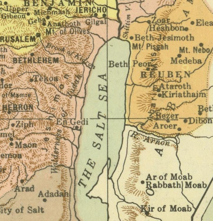 MapNorthern Dead Sea Jericho - Dead sea map